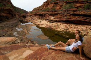 Couple relaxing in the Kalbarri National Park